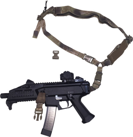 CZ Scorpion EVO3 S1 URBAN-SENTRY Hybrid Sling Kit configured into a single point sling.