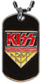 KISS Army Black Dogtag Necklace