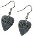 KISS Logo Guitar Pick Earrings