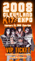 2008 Cleveland KISS Expo VIP Ticket