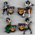 KISS Hard Rock Cafe Pin Global STRIDE Set