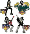 KISS Hard Rock Cafe GOAL Pin Set