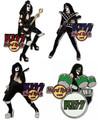 KISS Hard Rock Cafe Pin Group Set RUSE 2006