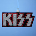 KISS Logo Hand Crafted Glass Christmas Ornament
