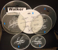 2011 Hottest Show On Earth Tour Walker Show Used Drumheads