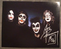 Ace Frehley Signed KISS First Album Outtake Photo
