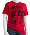 KISS Red Anaheim 1976 Tshirt