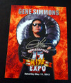 Gene Simmons Signed Fire 2013 Indianapolis Expo Photo