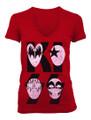 Red Cartoon Mask Logo Juniors Tshirt