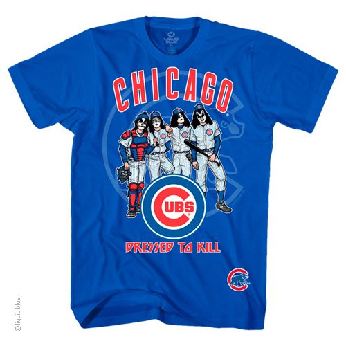 KISS Chicago Cubs Dressed To Kill Tshirt fcbfd8d96776