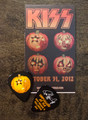 103112 KISS Kruise II Pumpkin Paul Stanley Guitar Pick