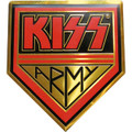 KISS Army Gold Logo Metal Sticker