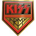 KISS Army Gold Logo Metal Sticker
