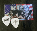 KISS The Tour Gene Simmons Black Logo Guitar Pick