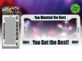 KISS You Wanted the Best You Got the Best GLOW IN THE DARK License Plate Frame
