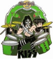 Hard Rock Cafe Pin Osaka Peter Criss Black Diamond
