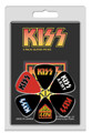 KISS Logos 6 Pack Guitar Pick Set
