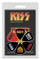 KISS Logos 6 Pack Guitar Pick Set