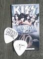 KISS Monster Europe Common Black Logo Guitar Pick Gene Simmons