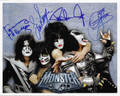 Band Signed Group Monster Photo