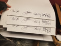 Signed Original Four Unprinted Lithograph Sheet