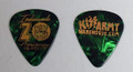 2018 Indianapolis KISS Expo Green Guitar Pick