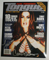 Carrie Stevens Signed Photo of Cover of Tongue Magazine