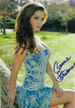 Carrie Stevens Signed Blue Floral Dress Photo