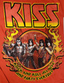 KISS Red Flames German Rock and Roll All Nite Red Tshirt