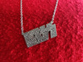 KISS Logo Swarovski Crystal Necklace