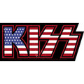 KISS USA Flag Logo Sticker