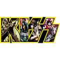 KISS Yellow Band Logo Sticker