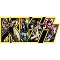 KISS Yellow Band Logo Sticker