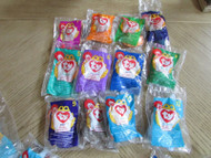 12 BEANIE BABIES 1998 MCDONALDS HAPPY MEAL TOYS SERIES 1-12 NEW BEANIE LOT-B38