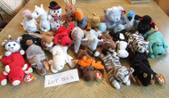 LOT OF 25 HARD TO FIND TY BEANIE BABIES - EXC - LOT B23