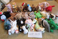 LOT OF 25 HARD TO FIND TY BEANIE BABIES - EXC - LOT B19