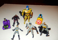 BATMAN - EIGHT ASSORTED VEHICLES & FIGURES ETC - GOOD- L133