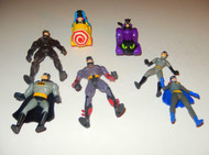 BATMAN - SEVEN ASSORTED VEHICLES & FIGURES ETC - GOOD- L133