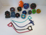ASST OF HASBRO TOMY BEYBLADE WITH ZIP CORDS L-DRAGO SEE PICS L9
