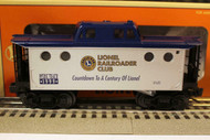 LIONEL - 19774- LIONEL RR CLUB LIGHTED CABOOSE - BOXED - 0/027 SCALE - B10A
