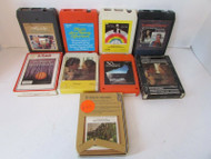 9 VINTAGE 8 TRACK TAPES ASST MUSIC COUNTRY ROMANCE CLASSICAL CHRISTMAS L83