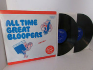 ALL TIME GREAT BLOOPERS VOL. 1 KERMIT SCHAFER 2 RECORD ALBUMS BROOKVILLE L114