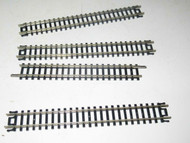 "N SCALE - #2501 ATLAS 5"" STRAIGHT TRACKS- 4 PIECES- GOOD- V7"