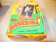 BASEBALL CARDS --TOPPS- 1989 'THE REAL ONE' SET - OPENED BOX- - S1
