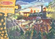 MELISSA & DOUG # 3132-200 PIECE PUZZLE EAGLE CANYON RAILWAY TRAIN RAILROAD NIB