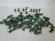 """VTG LARGE ASST OF GREEN ARMY FIGURES 3/4"""" TALL MADE IN CHINA SOFT PLASTIC H5"""