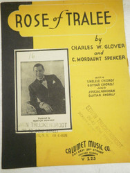 VINTAGE SHEET MUSIC- ROSE OF TRALEE- FAIR CONDITION- H51