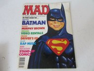 MAD MAGAZINE #289 SEPTEMBER ISSUE 1989 BATMAN CREASED COVER W5