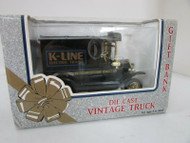 K-LINE ELECTRIC TRAINS VINTAGE DIECAST BLACK TRUCK GIFT BANK MIB LotD