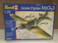 NEW MODEL- REVELL- 04372 SOVIET FIGHTER MIG-3- LEVEL 3- NEW- W50